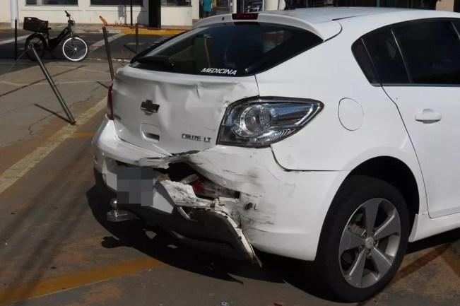 Acidente foi na manhã deste domingo (25), em Dracena — Foto: Cedida