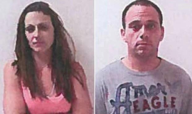 Rachel Gossett e Frank Lucas foram detidos durante o ato sexual (Foto: Loganville Police Department/Divulgação)