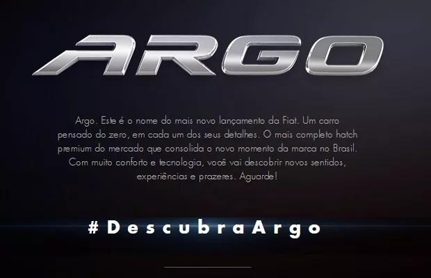 Fiat Argo será o novo hatch da marca no Brasil (Foto: Reprodução)