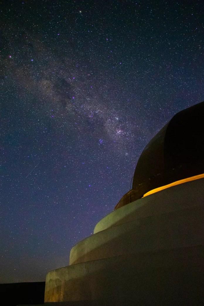 Fotografo faz foto do céu de MS — Foto: Silas Ismael/Foto