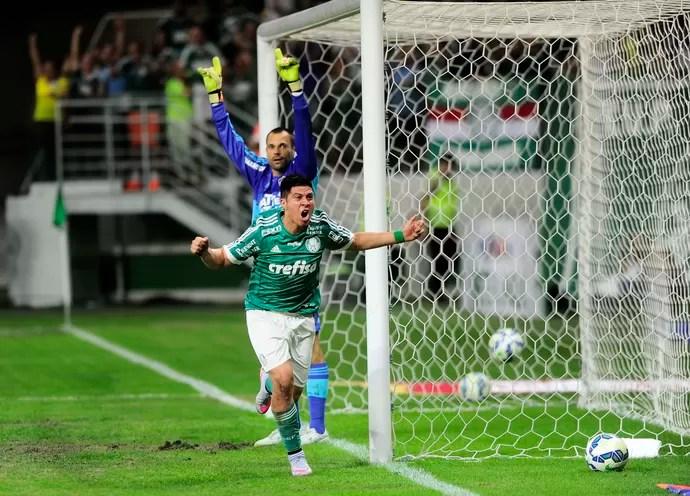 Palmeiras x Fluminense Cristaldo (Foto: Marcos Ribolli)