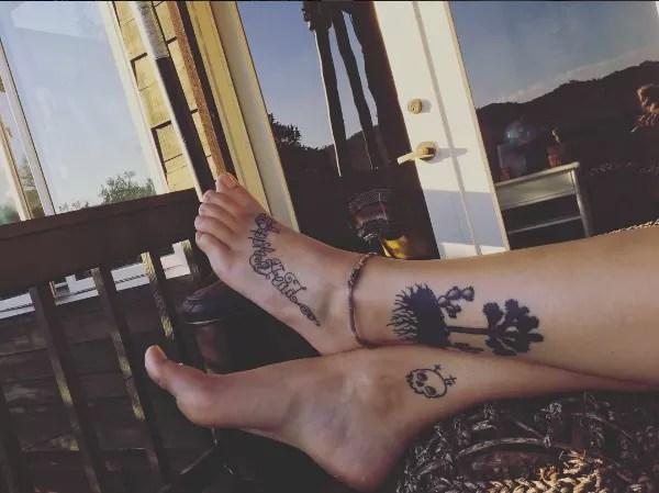 A tatuagem de Paris Jackson em homenagem ao pai (Foto: Reprodução/Instagram)