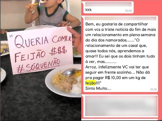meme feijão macapá (Foto: Reprodução: Facebook/WhatsApp)