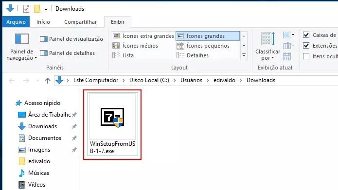 Executando o instalador do WinSetupFromUSB (Foto: Reprodução/Edivaldo Brito)
