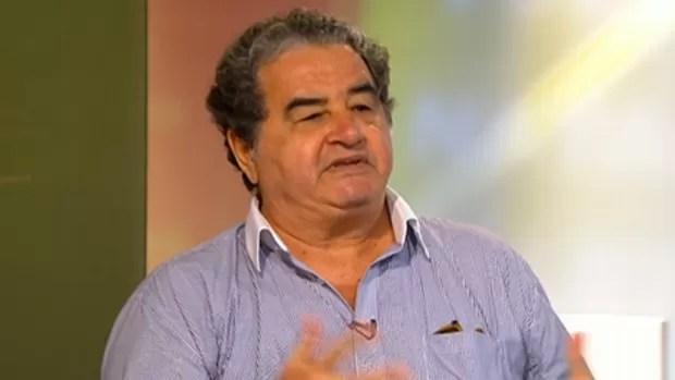 Ator Otávio Augusto, convidado do Redação SporTV (Foto: Reprodução SporTV)