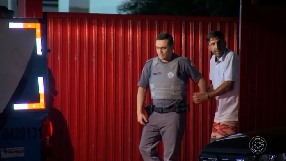 Rodrigo ficou preso desde o dia do crime, em 25 de setembro de 2019, em Bariri — Foto: TV TEM/Reprodução