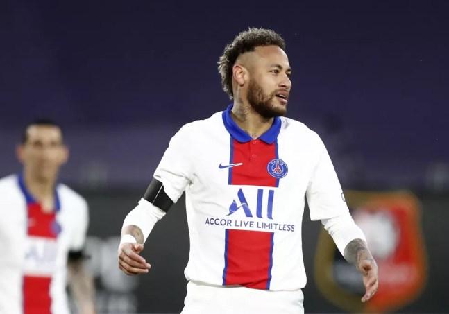 Rennes x PSG, Neymar — Foto: Reuters