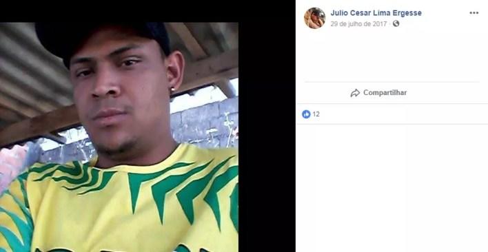 Júlio César Lima Ergesse foi indiciado pela morte da menina Vitória Gabrielly (Foto: Facebook/Reprodução)