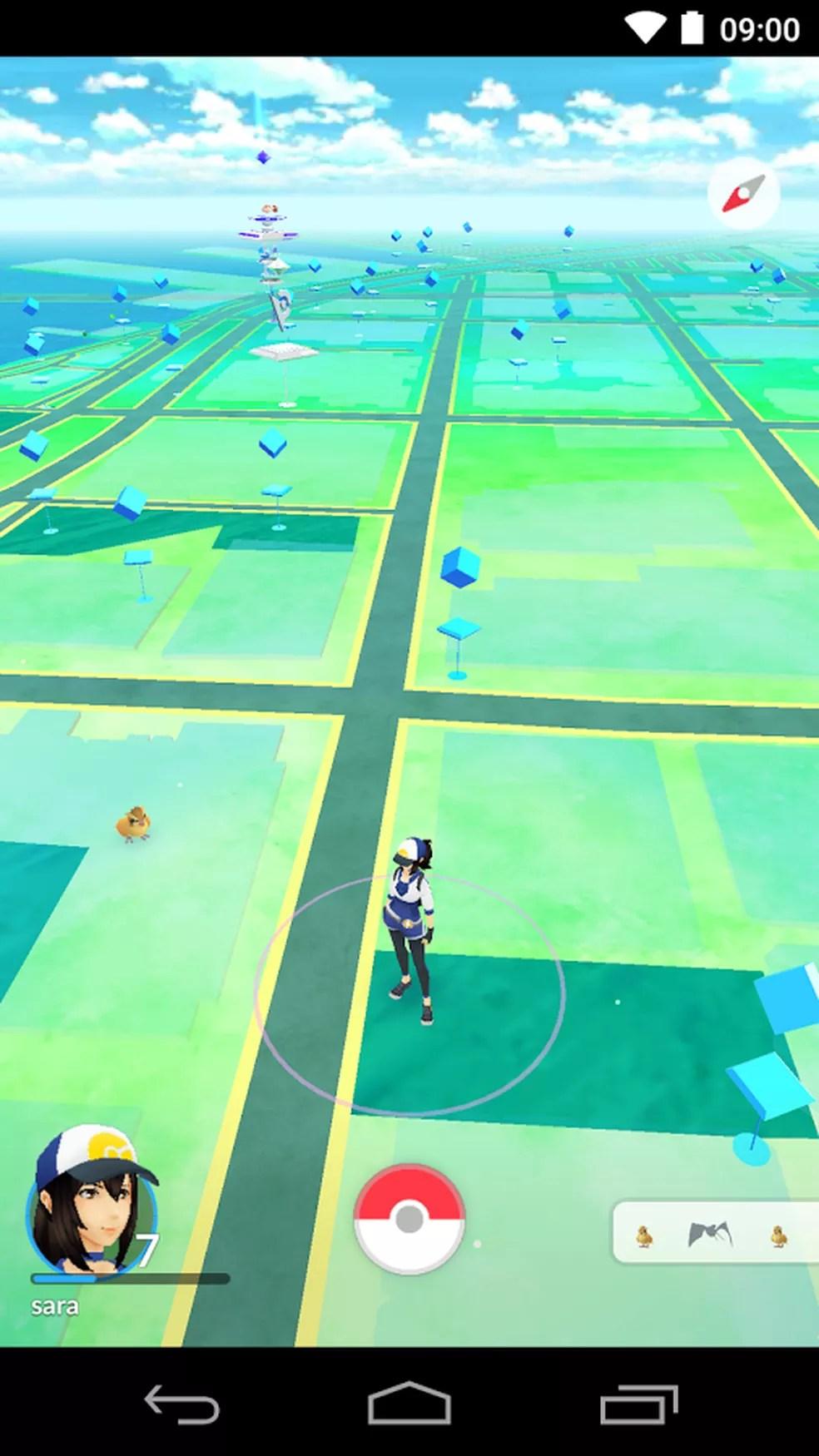 'Pokémon Go', jogo para smartphones com realidade aumentada. (Foto: Divulgação/Niantic)