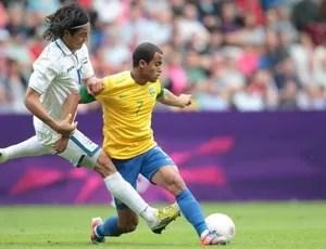 Lucas em ação pela Seleção contra Honduras (Foto: Rafael Ribeiro / CBF )