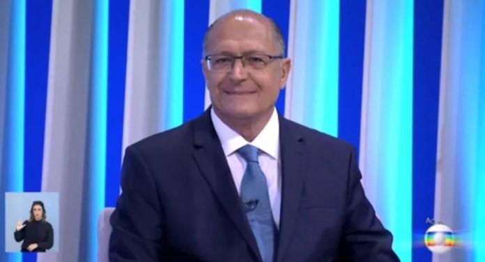 O candidato do PSDB à Presidência, Geraldo Alckmin, no debate da Rede Globo — Foto: Reprodução
