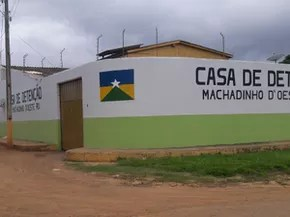 PM realizou buscas, mas nenhum dos detentos foi recuperado ainda (Foto: Machadinho Online/Reprodução)