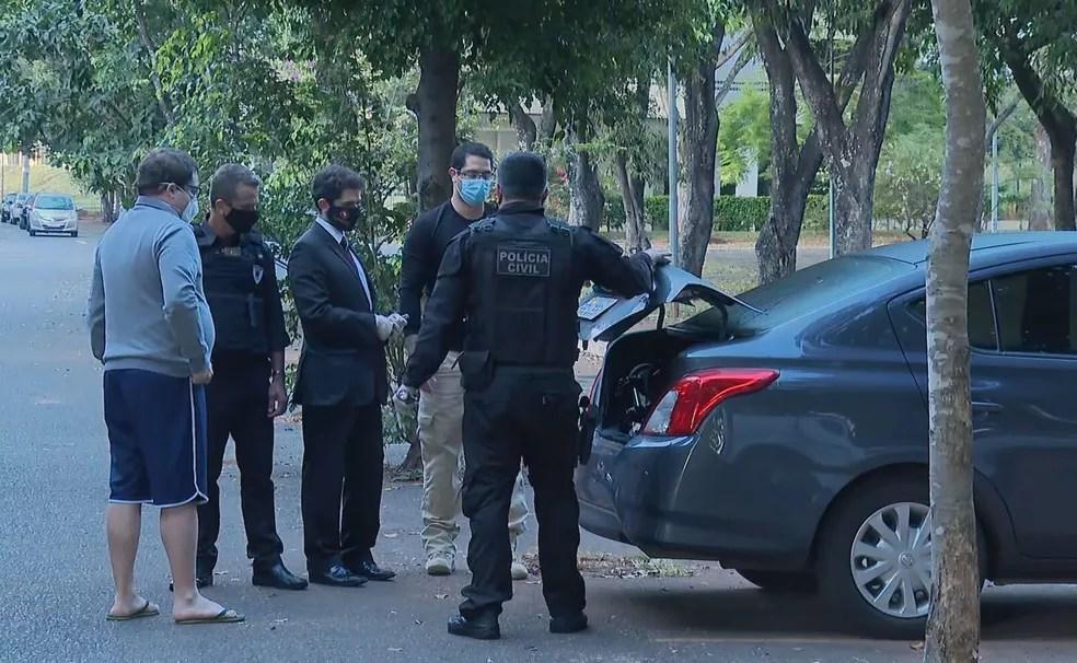Polícia faz buscas na Secretaria de Saúde do DF, nesta quinta (2), em investigação sobre compra de testes de coronavírus — Foto: TV Globo/Reprodução