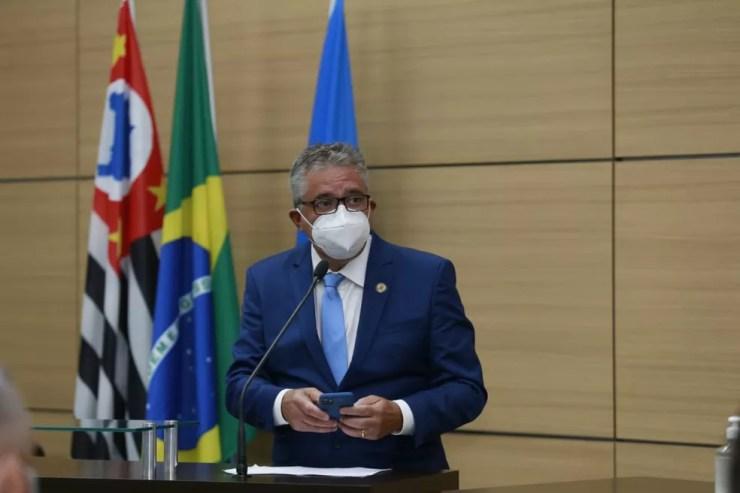Prefeito Válter Suman foi preso em operação da Polícia Federal — Foto: Helder Lima/ Prefeitura Municipal de Guarujá