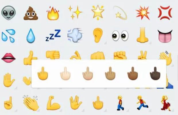 WhatsApp libera emoji de 'dedo do meio' para todas as versões de Android. (Foto: G1)