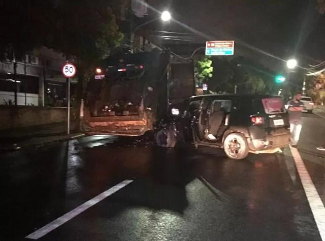 Acidente ocorreu na Avenida Getúlio Vargas, em Cuiabá, em novembro de 2018 — Foto: Polícia Civil-MT/Assessoria