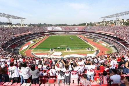 Morumbi encheu nos jogos do São Paulo em 2017 (Foto: Newton Menezes/Futura Pres)