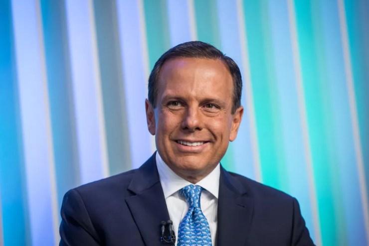 João Doria, candidato do PSDB ao Governo de SP, durante debate no estúdio da Globo em São Paulo — Foto: Celso Tavares/G1