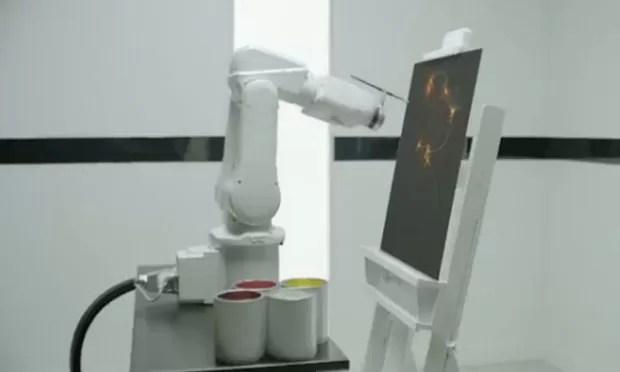 Robôs monitorarão sono dos hóspedes de hotel para criar pinturas abstratas (Foto: Divulgação)