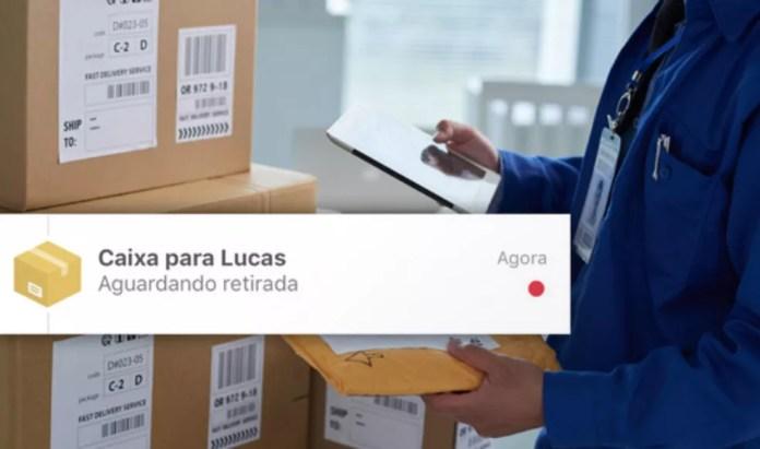 O Noknox emite alertas sobre encomendas que aguardam retirada — Foto: Reprodução/Noknox