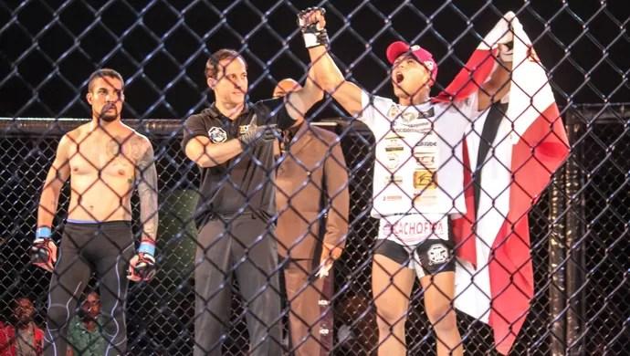 Fabrício Alagoinhas venceu no Arena Fight com finalização aos 43 segundos (Foto: Janderson Santana)