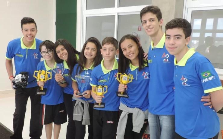 Equipe de Rio Preto foi vencedora de etapas regional, estadual e nacional (Foto: Marcos Lavezo/G1)