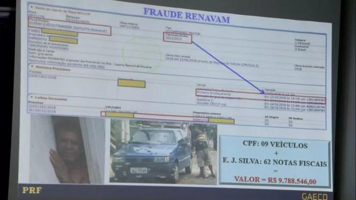 Fraude encontrada no sistema do Detran-ES — Foto: Reprodução/TV Gazeta