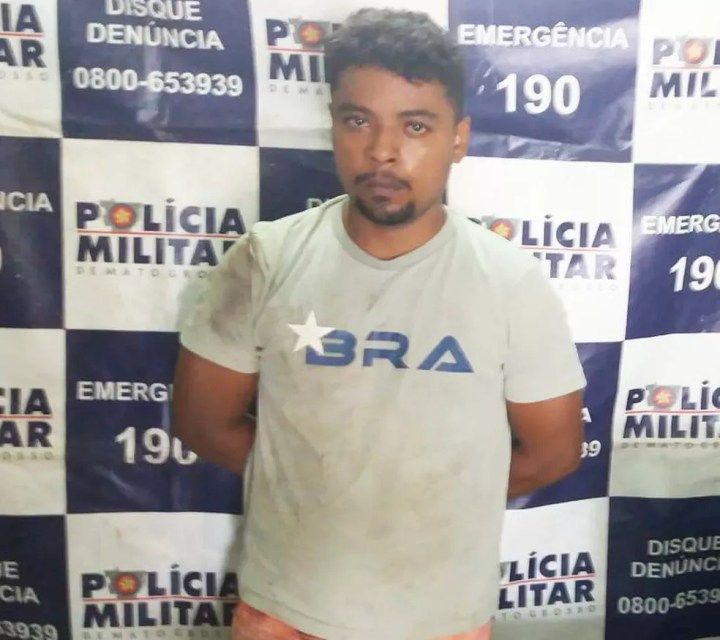 Alexandro Antunes de Oliveira da Silva foi preso em Nobres e negou o estupro — Foto: Polícia Militar de Mato Grosso/Divulgação
