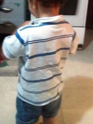 Garoto tem dois anos e está sem estudar (Foto: Amanda Barros/Arquivo Pessoal)