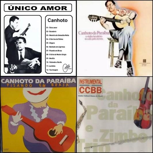 Capas dos álbuns de Canhoto da Paraíba (Foto: Montagem: Diogo Almeida/G1)