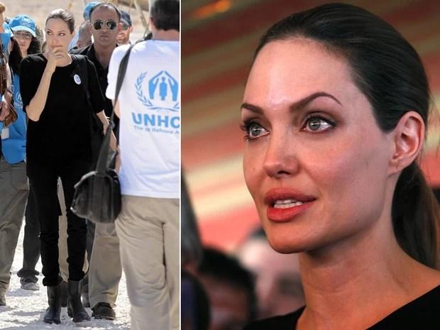 O número de refugiados sírios supera 250 mil pessoas, anunciou o Alto Comissariado da ONU para os Refugiados (Acnur), cujo diretor, Antonio Guterres, e sua enviada especial, Angelina Jolie, estão atualmente na Jordânia. (Foto: Khalil Mazraawi/AFP e Mohammad Hannon/AP)