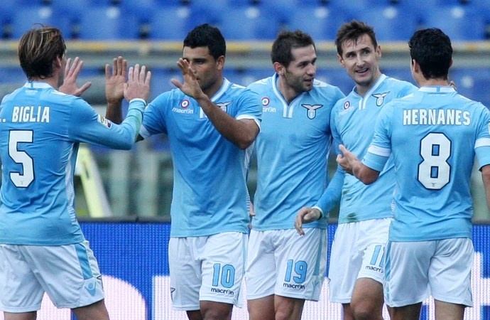 Klose Hernanes Lazio (Foto: Getty Images)