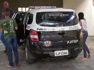 Pais da bebê prestaram depoimento na DDM de Rio Preto (Foto: Reprodução/TV TEM)