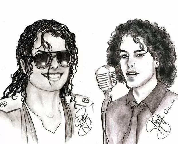 Fã envia imagem que compara Sam Alves à Michael Jackson (Foto: Ilustração / Sueli Maurício)