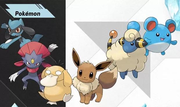 Alguns dos Pokémons que aparecerão em 'Black 2' e 'White 2' (Foto: Divulgação)
