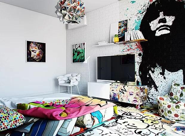 Absolutamente tudo foi dividido entre o estilo colorido e o o branco (Foto: Divulgação/Pavel Vetrov)