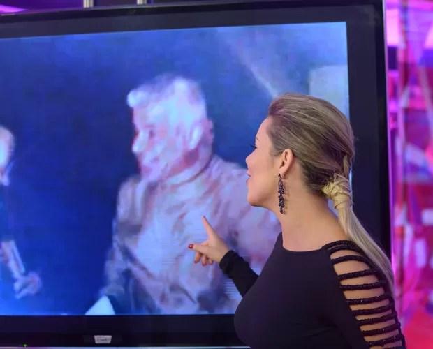 Fê Souza mostra bastidores com câmera escondida (Foto: Camila Serejo/Gshow)
