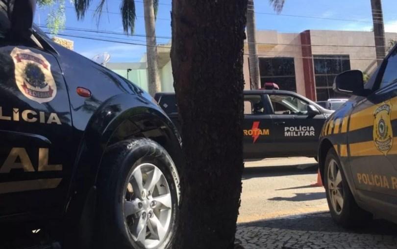 Operação conta com o trabalho de 450 policiais (Foto: Divulgação/PF)