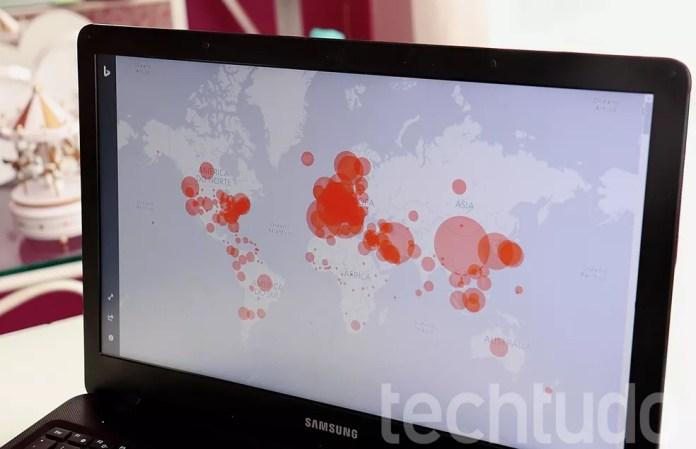 Mapa do coronavírus no mundo: sites mostram casos confirmados em tempo real — Foto: Ana Letícia Loubak/TechTudo