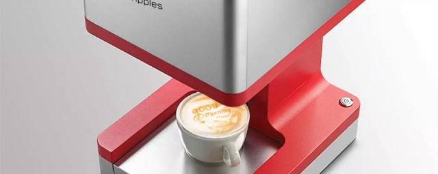 Impressora 3D Coffee Ripples aplica foto personalizada na espuma do café — Foto: Divulgação/Ripples