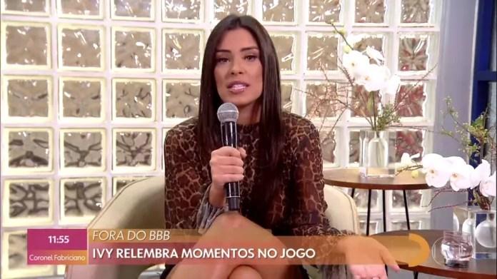 Ivy fala de voto em Babu dentro do 'BBB20' — Foto: TV Globo