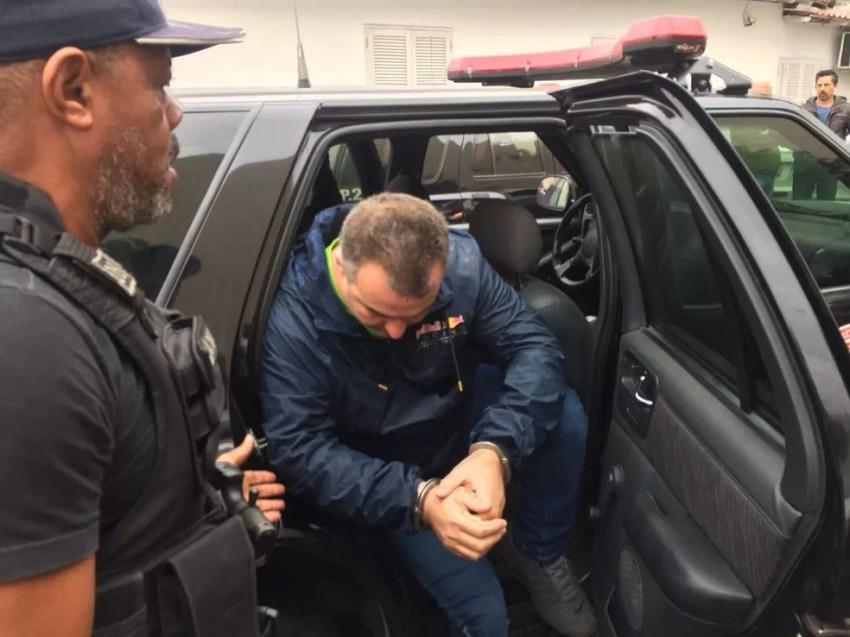 Empresário preso nesta segunda (Foto: Abraão Cruz/TV Globo )