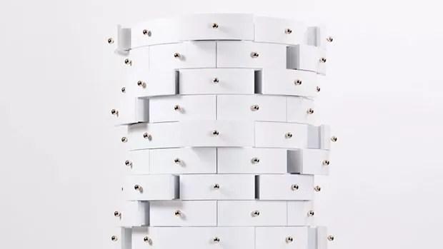 Móvel com 144 gavetas para quem precisa guardar muitos objetos (Foto: Divulgação)