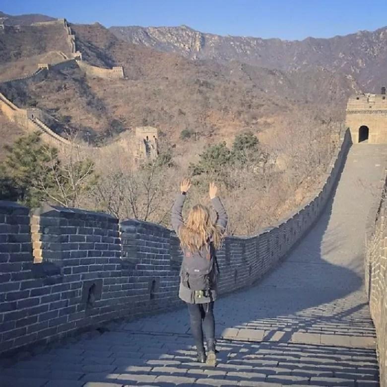 A Grande Muralha da China (FOTO: ARQUIVO PESSOAL/MEGAN SULLIVAN)