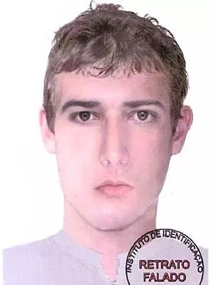 Retrato falado de suspeito de roubar vibrador de ouro de sex shop de Brasília em maio (Foto: Polícia Civil/Divulgação)
