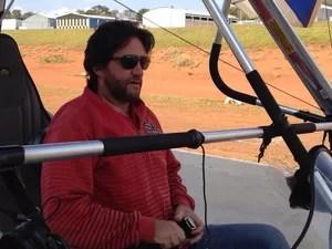 O piloto de ultraleve Jacson Skiavine morreu no local do acidente (Foto: Reprodução/Facebook)