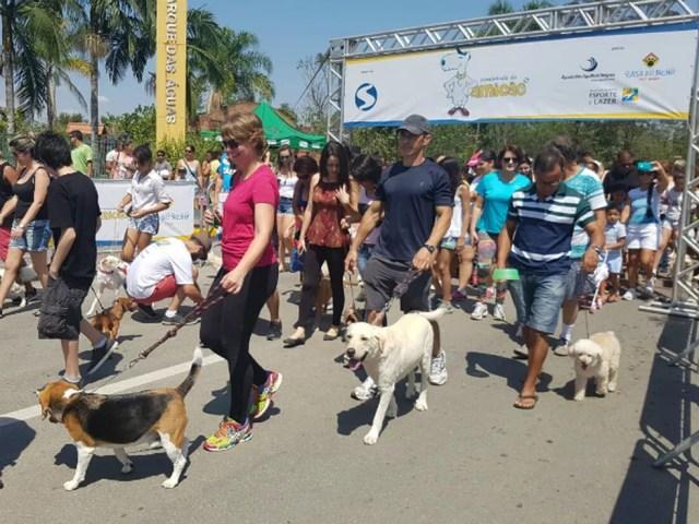 3ª edição da Caminhada do Amicão em Resende (Foto: Michele Martins/Arquivo Pessoal)