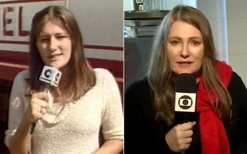 Ilze Scamparini começou a carreira de repórter na EPTV em Campinas e há anos é correspondente internacional da TV Globo. — Foto: Arte/G1