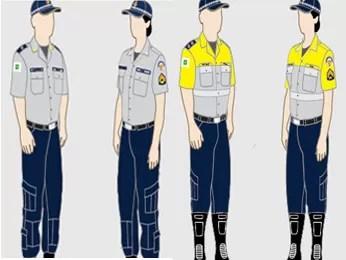 Novas fardas da PM terão predominância do azul e pretendem facilitar a visibilidade do policial. Uniforme operacional para o destacamento nas ruas (à esquerda) e para o policiamento de trânsito. (Foto: Diário Oficial do DF/Reprodução)