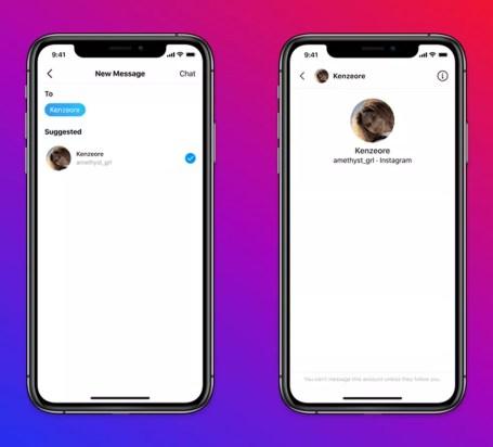 Usuários adultos não poderão enviar mensagens para menores da idade que não os seguem no Instagram. — Foto: Divulgação/Instagram